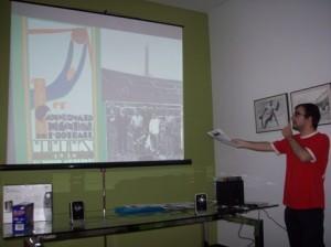 """Instante de la I Conferencia """"La Historia de los Campeonatos del Mundo de Fútbol"""""""