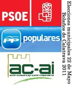 Elecciones municipales del 22 de Mayo de 2011 en Bolaños de Calatrava