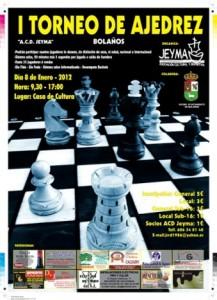 Cartel del I Torneo de Ajedrez ACD Jeyma