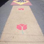 Vista general segunda parte de la alfombra