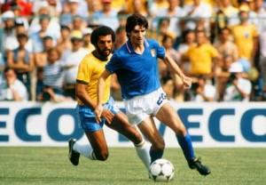 Rossi durante el partido que enfrentó a Italia contra Brasil en Sarrià