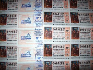 Décimos puestos a la venta por la ACD Jeyma para el Sorteo Extraordinario de Navidad 2012