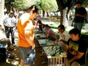 Imagen de la II Exhibición de Partidas de Ajedrez Simultáneas