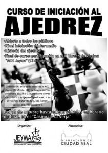 Cartel del curso de iniciación al ajedrez