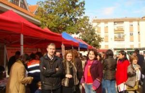 Stands informativos en la Plaza de España
