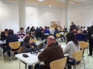 Aspecto de la Casa de Cultura durante el torneo de ajedrez organizado por la ACD Jeyma