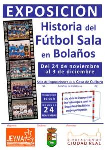 Cartel anunciador de la exposición de Fútbol Sala en Bolaños
