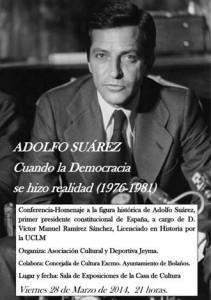 Cartel de la conferencia-homenaje a Adolfo Suárez