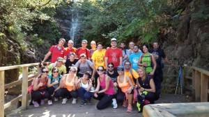 """Grupo en la Cascada de """"El Chorro"""""""