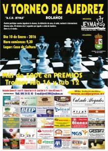 Cartel del V Torneo de Ajedrez ACD Jeyma