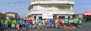 Participantes en la II Carrera Solidaria ACD Jeyma en Bolaños de Calatrava
