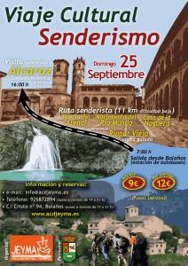 Cartel Viaje Cultural a Alcaraz y ruta senderista Nacimiento del Río Mundo.