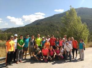 Grupo de senderistas al final de la ruta