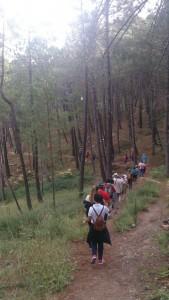 Momento de la ruta por el Parque Natural