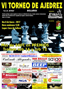 Cartel VI Torneo de Ajedrez ACD Jeyma