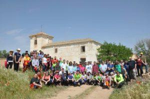 Participantes daimieleños y bolañegos que participaron en la ruta.