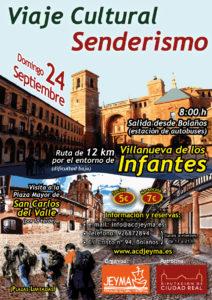 Cartel de la ruta por Villanueva de los Infantes