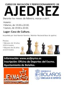 Cartel del curso de ajedrez